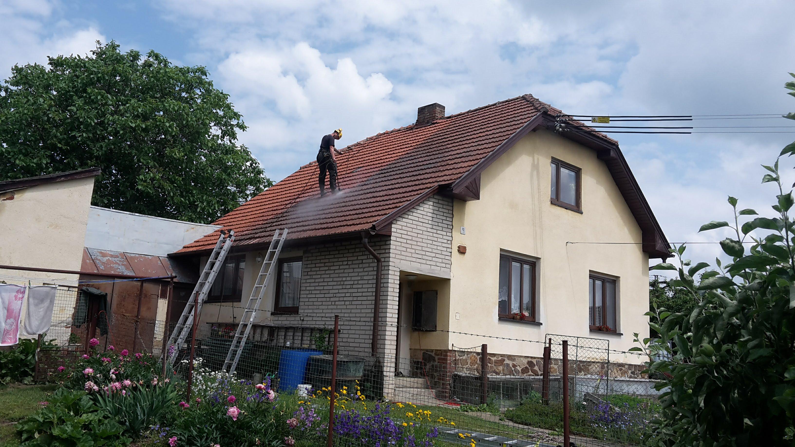 Tlakové mytí střechy, Přibyslav