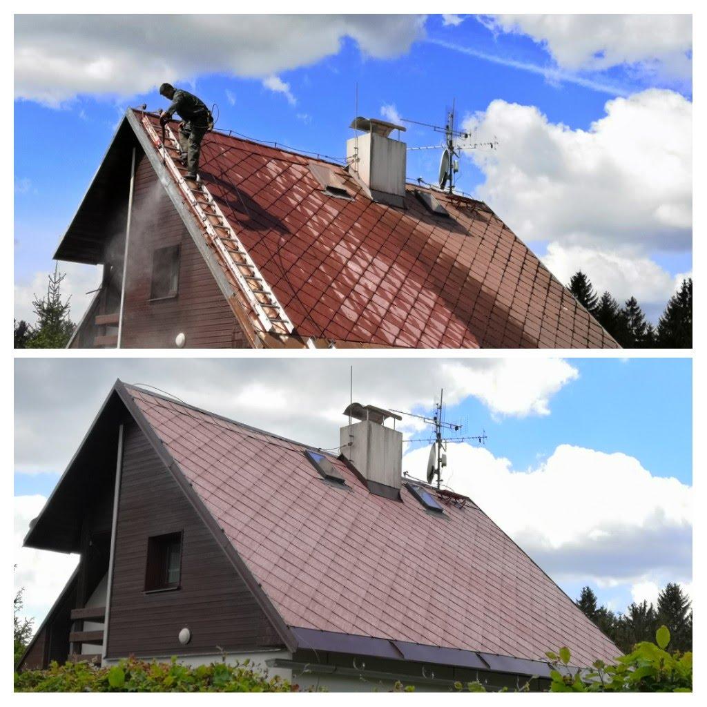 Renovace eternitové střechy