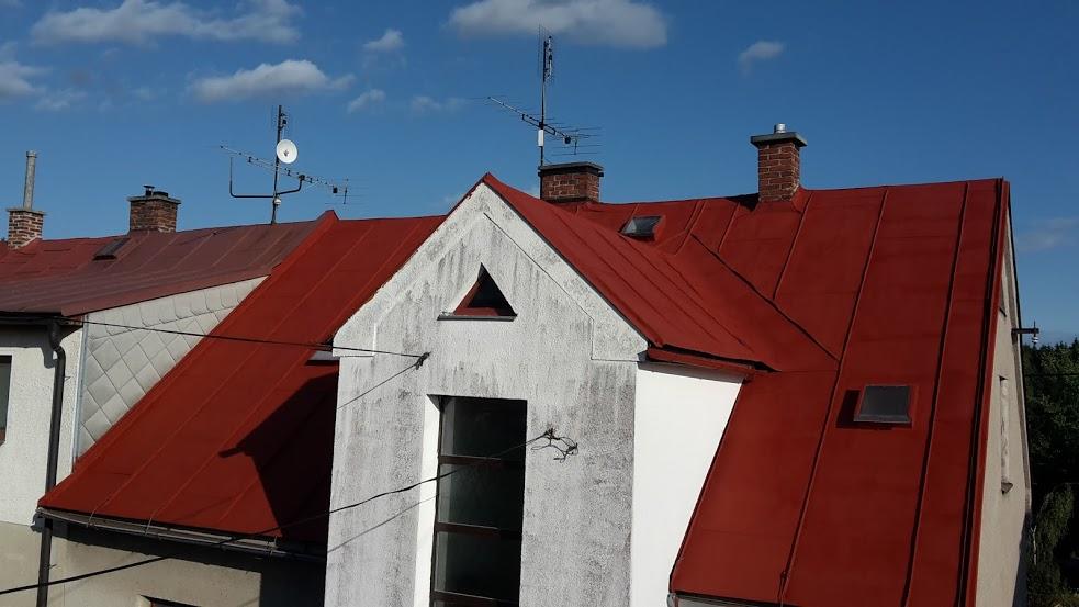 Nátěr střechy ve Žďáru nad Sázavou