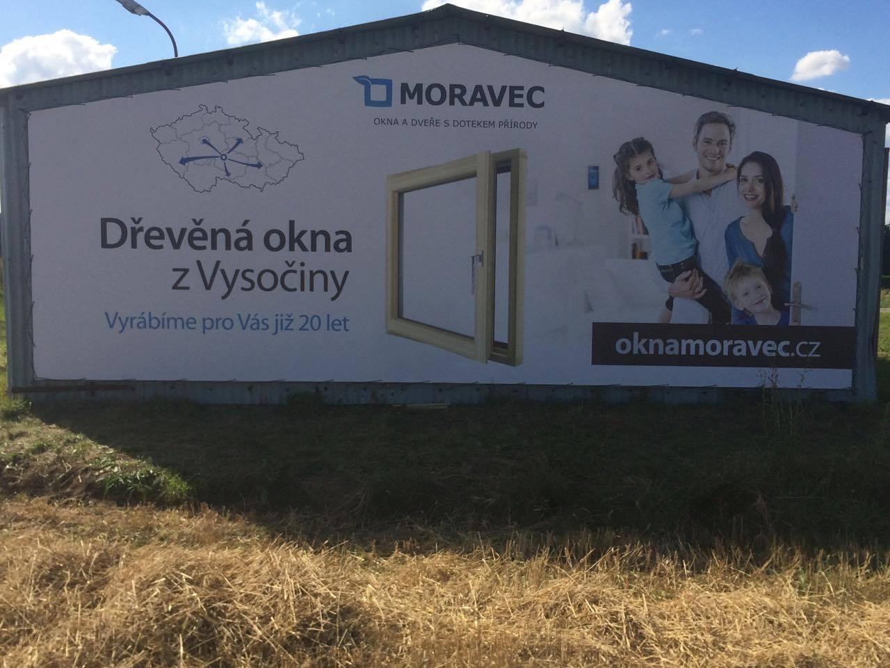Montáž reklamního banneru, Sedliště