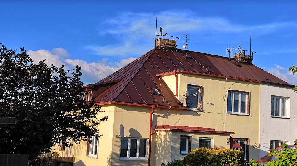 Nátěr plechové střechy, Humpolec